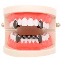 Vampire Fangs Dental Grillz accessories 18K gold plating teeth Grills Hip hop Men and women Golden tiger Halloween teethes 11 27lr Y2