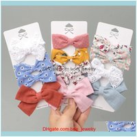 Hair Jewelry Jewelryhair Clips & Barrettes 4 Pcs Set Cotton Linen Leopard Printed Bowknot For Cute Girls Safty Hairpins Headwear Kids Aessor