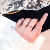 Fashion Jewelry Couple Ring Young Girl Personality Accessories Sexy Women Charm Stainless Titanium Steel Simple Elegant Camber Rings Party Wedding Lover Kids Gift
