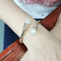 2020 diamond pearl opening women's trend versatile exaggerated temperament Bracelet party accessories
