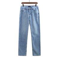 21SS AW Bayan Rahat Kot Ince Pantolon Logo Fermuar Düğme Dekorasyon Ile Rahat Nefes Pantolon Açık Giyim