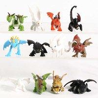 Come addestrare il tuo drago The Hidden World Worldless Night Fury Mini PVC Figures Giocattoli Set