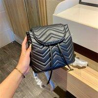 Feminino Moda Luxo Famoso Designer Handbags Simples Design Alfabético Prático Desenho Portátil Corda Corda Fechar Letra Bom Venda Estilo de Mochila