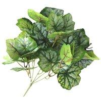 장식 꽃 화환 인공 잎 줄기 현실적인 플라스틱 가짜 식물 5-proged crabapple 잎 목련 집 decorati의 7 프롱