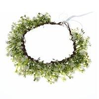 Hair Accessories Breathable White Flower Crowns Tiaras Hairbands Romantic Sweet Gardland Women Wedding For Bride Bridesmaids