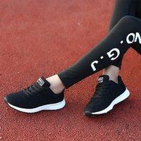 Top Calidad Mujeres y hombres caminando zapatos de caminata ligero resbalón resistente resistente zapatillas de deporte cómodas zapatos de punto transpirable para entrenadores Tamaño 36-45