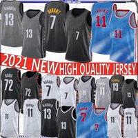 2021 NCAA Formalar Mens 11 Irving Basketbol Formaları 7 Kevin Durant Kyrie New University 13 Harden 7 Durant 72 Biggie 11 Irving stokta S-XX