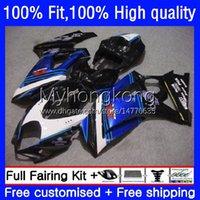Kroppssprutningsform för Suzuki K7 GSXR 1000 CC 1000CC 07 08 Kroppsarbetet 27NO.62 GSXR1000 Blue Black GSX-R1000 2007 2008 GSXR1000CC GSXR-1000 2007-2008 OEM Fairing Kit