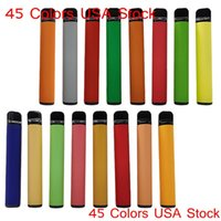 USA Stock 800puffs Disposable Vape Pens Devices cigarettes electronics pod 3.2ml Tank 550mah Battery 45 Colors 500pcs in 1 case 2-5 days local delivery