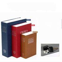 Storage Boxes & Bins Book Piggy Bank Creative English Dictionary Money with Lock Safe Deposit Home Mini Cash Jewelry Security Box 6 MOLI