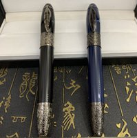 2021 Great Luxury Pen Writer Daniel Defoe Collector Vino Rojo Negro Azul Blanco Classic Fountain Pens Luxury-Pen