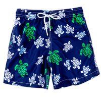 Fashion-Brand Designers Beach Shorts для мужчин Мальчик нижнее белье Мультицветная морская черепаха напечатана Pilebre мужская серфинг плавательная доска