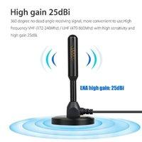 HD الرقمية داخلي مضخم تلفزيون هوائي 200 كيلومتر فائقة HDTV مع مكبر للصوت VHF / UHF استجابة سريعة في الهواء الطلق الهوائيات الجوية