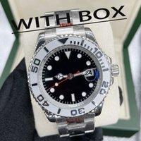 lmjli-u1 качество мужские часы яхта стиль 42 мм черный циферблат мастер автоматический механический сапфир стекло классическая модель складной наручные часы супер светящиеся