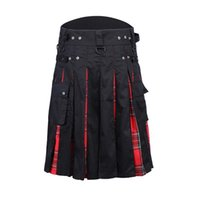 Men's Shorts 2021 Men Waist Casual Skirt Pant Solid Plaid Punk Hip-hop Avant Garde Fashion Scotland Trousers Scottish Kilt