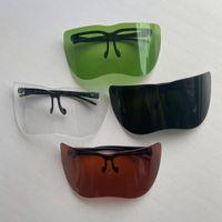 Outdoor Eyewear Cycling Sunglasses Oversized Visor Shield Acrylic Large Mirror Half Face Guard