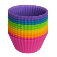 Pastel de silicona Muffin Cupcake Cup Casta Molde de pastel Caja de Molde Horno Molde Molde Banking Baking Jumbo Cocina Herramienta