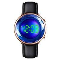 watch SKMEI LED Wristwatches Digital es For Women Flowers Shape 3D Glass Stainless Steel Wrist Waterproof Clocks 1640