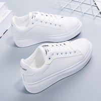 Beyaz Ayakkabı Bahar 2021 Kadın Stil Düz Kore Sonbahar Öğrenci Rahat Kadın Ayakkabı Gelgit Deri Panel O