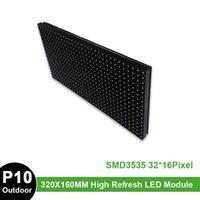 Display P10 Outdoor Waterproof LED Module 320mm*160mm Full Color 32x16 Dots Matrix RGB Panel
