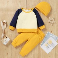 Clothing Sets Ly Fashion Autumn Baby Boys Clothes 3pcs Solid Cotton Pullover Long Sleeve Sweatshirt Tops Pants Hat Outfit Kid