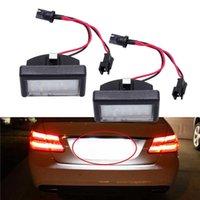 1 Takım Araba Styling Hatası Ücretsiz LED Plaka Işık Lambası Beyaz LED Chips Araba Kuyruk Lambası Benz ML W164 X164X Araba LED Lisans