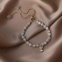 Charm Bracelets Luxury Fashion Opal Gold Metal Crown Bear Buded Brazalet For Women Girls Declaración Rhinestone Joyería ajustable