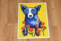 Målningar Blue Dog Spring är här Home Dekoration Hantverk / HD Print Stor oljemålning på väggkonst kanfas Bild 210314 8O4V
