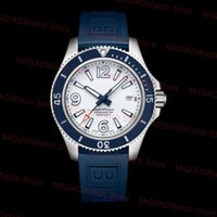Luxury Mens Watch Ocean Automatic Mechanical Sweep Movement Rotatable Bezel Blue Rubber Strap Stainless Steel Men Wristwatches