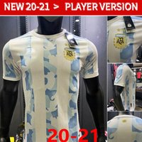 Spielerversion 20 21 Argentinien Fußball-Trikots Messi di Maria Higuain Icardi Dybala 2020 2021 Fußball Hemden Uniformen Männer + Kinder Set