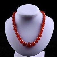Цепи натуральные бусины агата Handcarded круглая подвеска простые ретро ожерелье темпераментные украшения моды для женщин мужчины удача