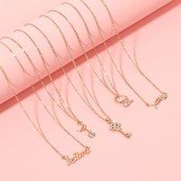 02CO 70% скидка на корейской версии Fishbone Gold-Placed аксессуары Троянская лошадь ключевой шейну ключ цепь красивый роговой лебедь письма ожелля