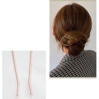 Femmes en forme de U Pin en forme de métal Barrette Coupes de cheveux Simulés Bridal Tiara Accessoires de cheveux de mariage Outils de conception de la coiffure de mariage