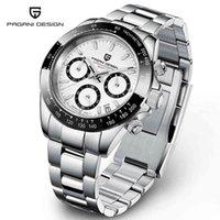 Voir Pagani Design Hommes Sports Quartz Saffier Safier Acier inoxydable Étanche Luxe Reloj Hombre