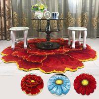 Ковры 3D Peony Pattern Hood Carpet Nordic Art Flower Коврик Мягкая Стекающая ромашка для гостиной Спальня Антискользятная прихожая дверь