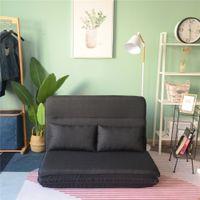 소파 침대 거실 접는 다기능 이중 목적 의자 싱글 렌탈 스미스 게으른 소파 베개 블랙