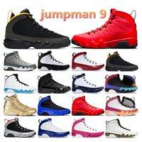 air retro jordan 9s Jumpman 9 Racer University Blue Gym Red Black White Bred Citurs Herren Sport Sneakers Trainer Outddor Mode