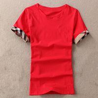 T-shirts Femmes Summer Tees T-shirts T-shirts Coton O Cou Dames Tops Femme