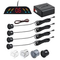 Car Rear View Cameras& Parking Sensors LED Sensor Backlight Display Universal Reverse Backup Auto Parktronic Radar Monitor With 4 Detector S