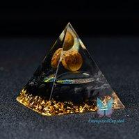 Orgone Pyramid Magic Vision Tiger Eye Ball Quartz Healing Meditation Present