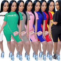Summer Women Tracksuits Designer Two Pieces Outfits Letter Printed Short Sleeve T Shirt Sexy Shorts Jogging Suits Sportswear Plus Size