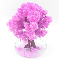 Flower Fever Explore Science Visual Magic Artificial Cherry Decoration Growing DIY Paper Tree Gifts Novel Baby Toys