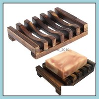 Dishes Aessories Home & Gardennatural Wooden Bamboo Soap Dish Tray Holder Storage Rack Box Container For Bath Shower Plate Bathroom Drop Del