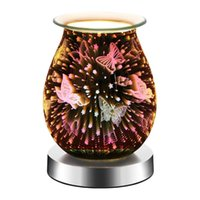 Fragrance Lamps Electric Wax Melt Burner Plug In Candle Warmer, Glass Oil For Scented Candles, Night Light 3D Decorative
