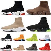 balenciaga sock حار بيع المصممين الجملة جورب منصة حذاء رجل إمرأة ثلاثية أسود أبيض الكتابة على الجدران الأحذية المسطحة عارضة أحذية رياضية الجوارب والأحذية مدربين