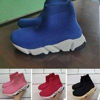 Triple S pual warmer Knit City Sock Lightweight Children Running shoes boy girl youth kid sport Sneaker size 24-35