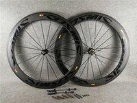 بوب الأسود على الأسود 700C 3K ماتي 60 ملليمتر الكربون الكربون الطريق دراجة عجلات الجبهة الخلفي العجلات مع 25MM عرض أسود novatec a271 hubs 11 سرعة