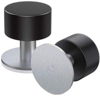 Door Catches & Closers Stopper Stops 1 Pack Adhesive Wall Mounted Stop Stainless Steel Doorstop For Floor With Sound Dampening Bumper