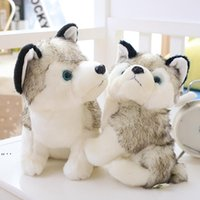 Husky Köpek Peluş Bebek Oyuncakları Hediyeler Çocuk Noel Hediyesi Dolması Hayvanlar Bebekler Çocuk Oyuncak 18-28 cm Ev Dekorasyon DWE10274
