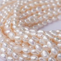 Beadthoven 100pcs 7-10mm Natural Freshwater Pearl Beads 0.7mm Hole Jewelry Making DIY Crafts